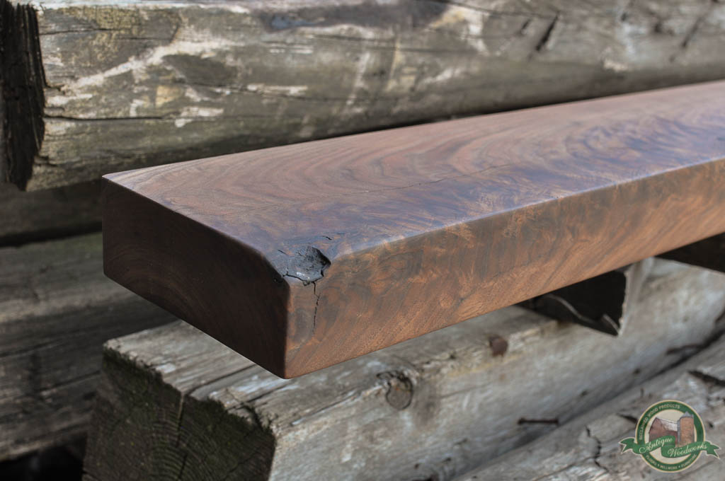 2.5 x 7 Black Walnut Fireplace Mantel Shelf (CHICAGO-SOO)